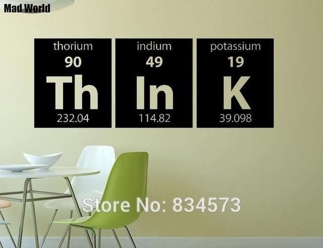 Mad World Periodic Table Think Elements Wall Art Stickers Wall Decal Inside Periodic Table Wall Art (Image 5 of 20)