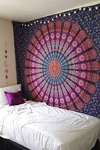 Madhu International Mandala Tapestry, Bohemian Wall Hanging Pertaining To Mandala Wall Art (Image 7 of 25)