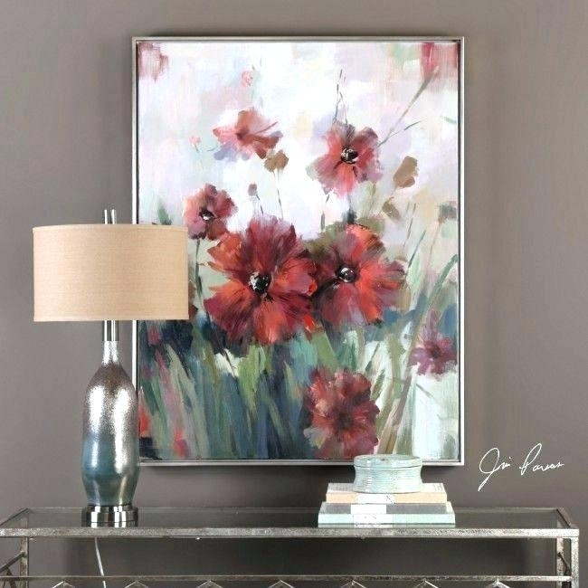 Magnificent Uttermost Wall Decor In Art Fresh Blooming Red Regarding Uttermost Wall Art (Image 6 of 25)