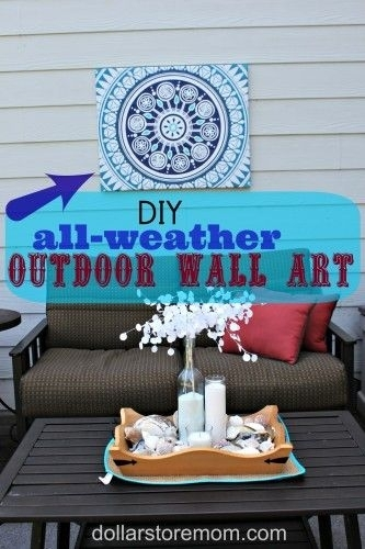 Make Outdoor Wall Art From A Shower Curtain | Home Inspirations Inside Outdoor Wall Art Decors (Image 9 of 20)