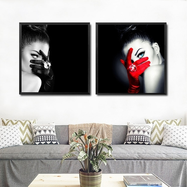 Make Up Fashion Wall Art Canvas Painting Black Red Art Picture Intended For Fashion Wall Art (View 7 of 20)