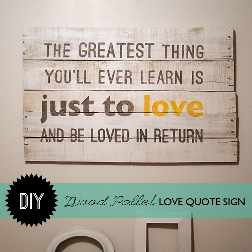 Make Wood Pallet Wall Art In Wood Wall Art Quotes (Image 9 of 20)