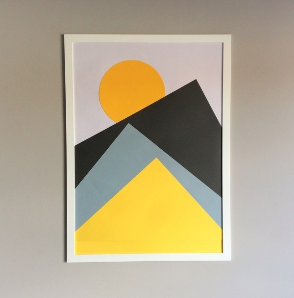 Make Your Own Diy Nordic Wall Art | The Crafty Gentleman With Geometric Wall Art (View 9 of 20)