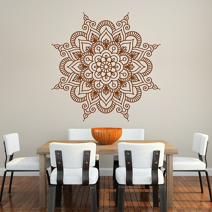 Mandala Vinyl Wall Art Decal Intended For Mandala Wall Art (Image 8 of 25)