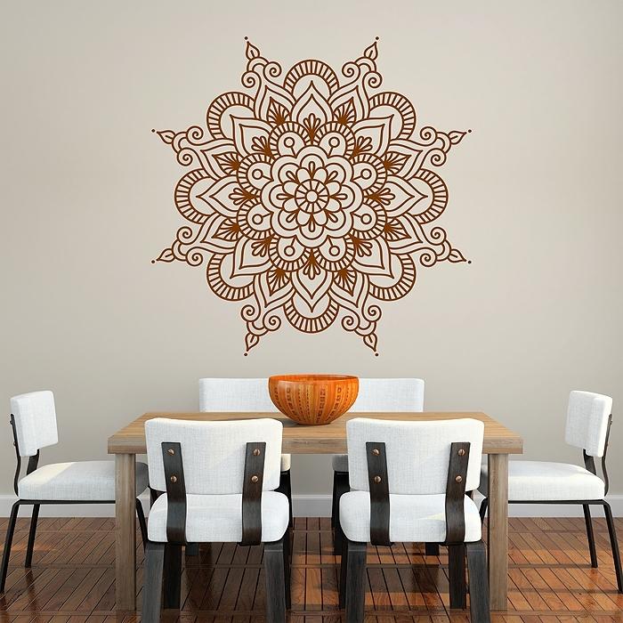 Mandala Vinyl Wall Art Decal Intended For Mandala Wall Art (Image 8 of 25)
