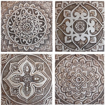 Mandala Wall Art Made From Ceramic – From Gvega On Etsy Inside Moroccan Wall Art (View 22 of 25)