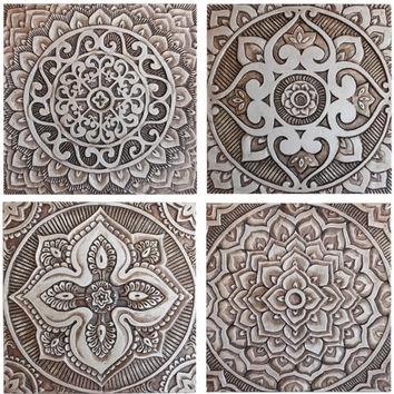 Mandala Wall Art Made From Ceramic – From Gvega On Etsy Inside Moroccan Wall Art (Photo 22 of 25)