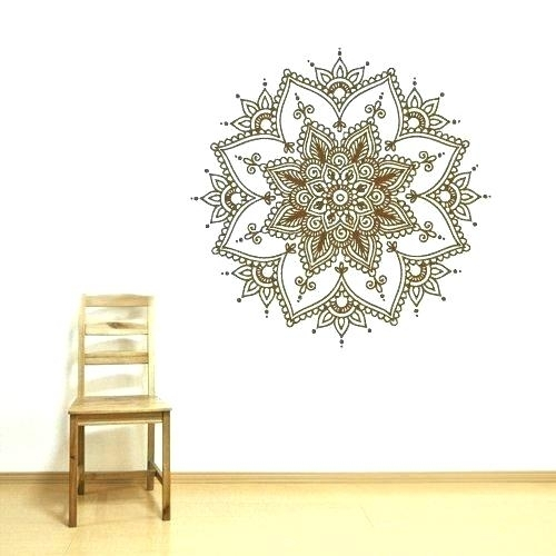 Mandala Wall Art Mandala Wall Art Mandala Wall Decal With Mandala Pertaining To Henna Wall Art (Image 24 of 25)