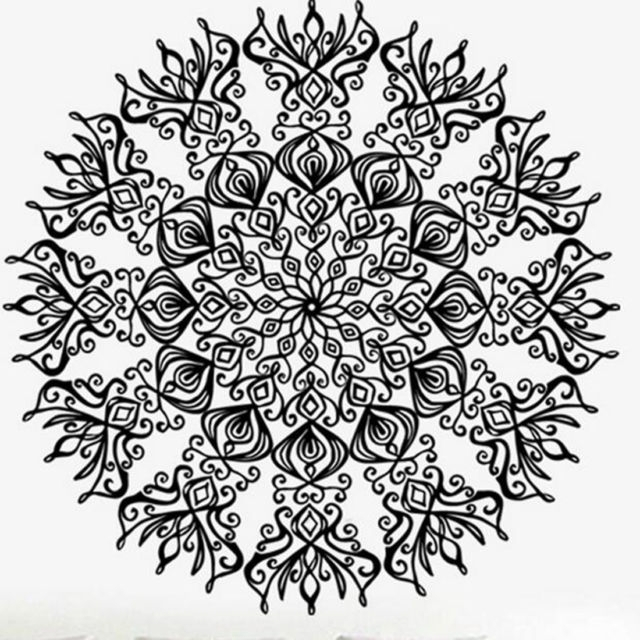 Mandala Wall Decals Stickers Namaste Vinyl Art Bedroom Decor With Mandala Wall Art (Image 14 of 25)