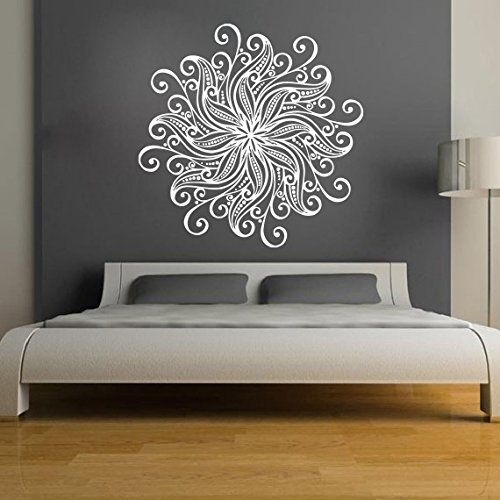 Mandala Wall Stickers Decals Indian Pattern Yoga Oum Om Sign Decal With Regard To Mandala Wall Art (Image 17 of 25)