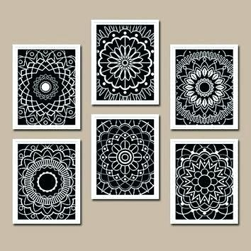 Mandalas Wall Art Mandala Wall Art Kitchen Bedroom Bathroom Flower Inside Mandala Wall Art (Image 19 of 25)