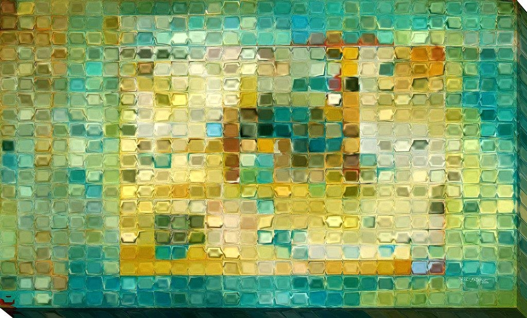 Mark Lawrence Art Mark Tile Art 5 Modern Mosaic Tile Art Painting Regarding Tile Canvas Wall Art (View 15 of 25)