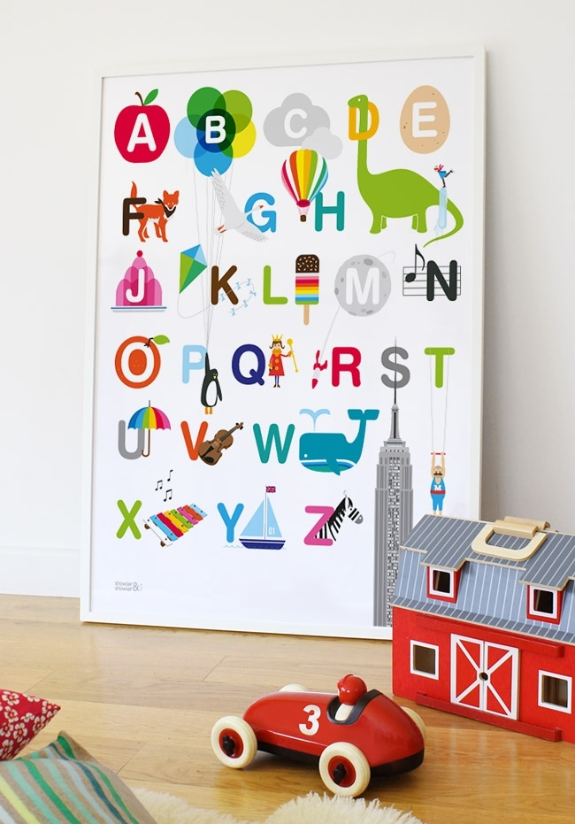 Marvelous Alphabet Wall Art – Wall Decoration Ideas For Alphabet Wall Art (Image 19 of 25)