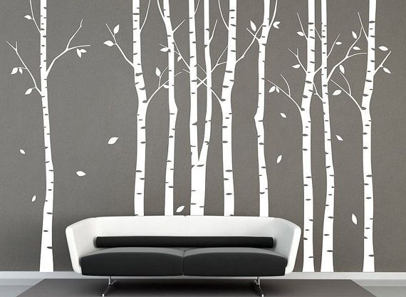 Marvelous Birch Tree Wall Decal – Wall Decoration And Wall Art Ideas For Birch Tree Wall Art (Image 20 of 25)