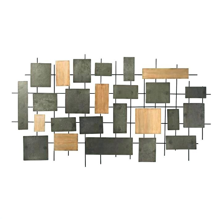 Metal And Wood Wall Decor Forested Wood Metal Wall Decor Wooden Regarding Wood And Metal Wall Art (Image 8 of 25)