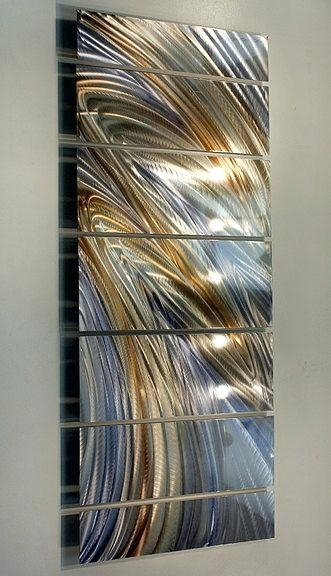 Metal Artwork For Wall New Contemporary Metal Wall Art Abstract Gold With Regard To Rustic Metal Wall Art (Image 4 of 25)