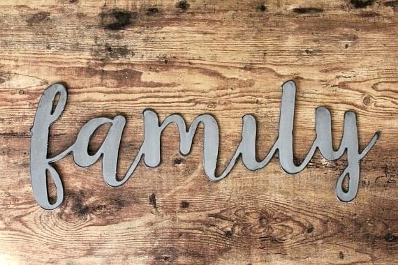 Metal Family Sign Metal Sign Wall Sign Family Name Aluminum Steel Throughout Family Metal Wall Art (View 8 of 10)