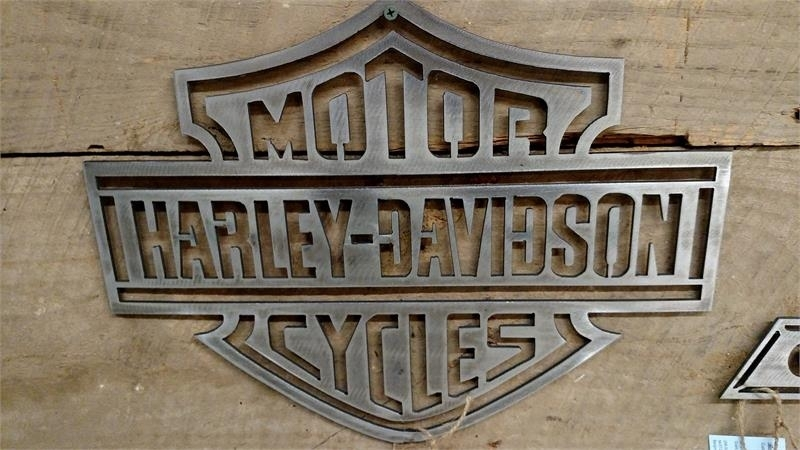 Metal Harley Davidson Sign Wall Art Throughout Harley Davidson Wall Art (View 12 of 25)