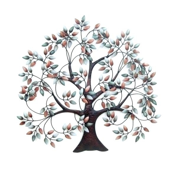Metal Leaves Wall Decor Metal Wall Art Trees Metal Tree Wall Decor With Metal Tree Wall Art (Image 3 of 10)