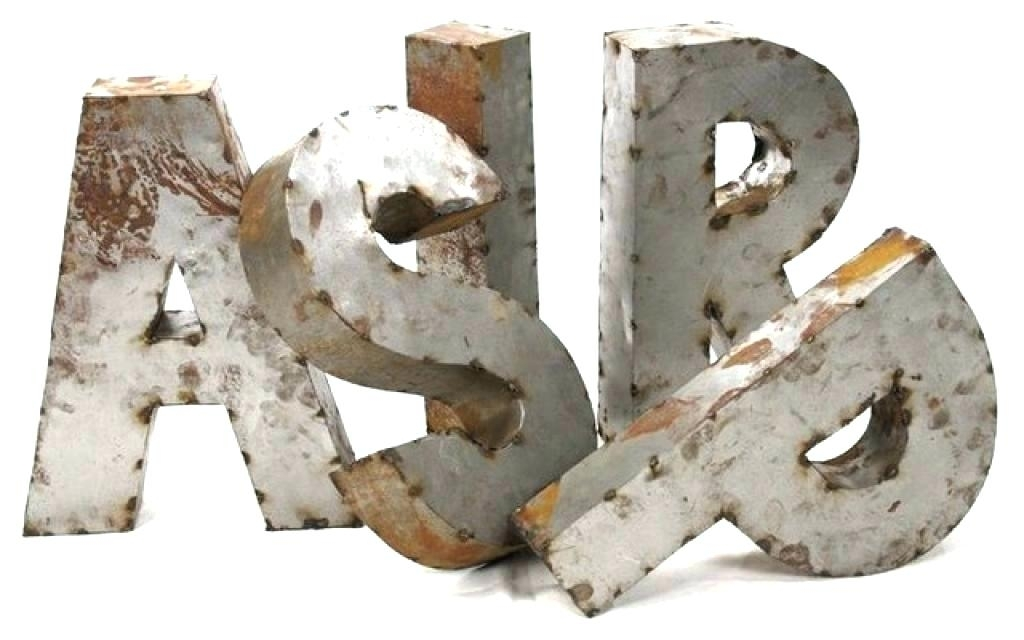 Metal Letters Wall Decor – Honestlyb With Metal Letter Wall Art (View 10 of 25)