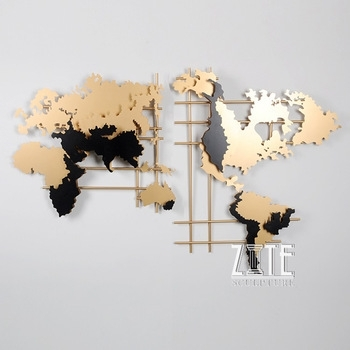 Metal Steel World Map Wall Art Decor – Buy Wall Art,metal Wall Art Regarding Metal Wall Art Decors (View 10 of 10)