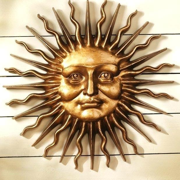 Metal Sun Wall Art Outdoor Outstanding Excellent Half Face Sun Throughout Outdoor Sun Wall Art (View 5 of 10)