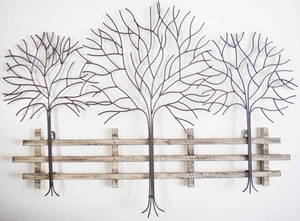 Metal Tree Wall Art – Contemporary Metal Wall Art Autumn Tree Scene Throughout Metal Tree Wall Art (View 3 of 10)