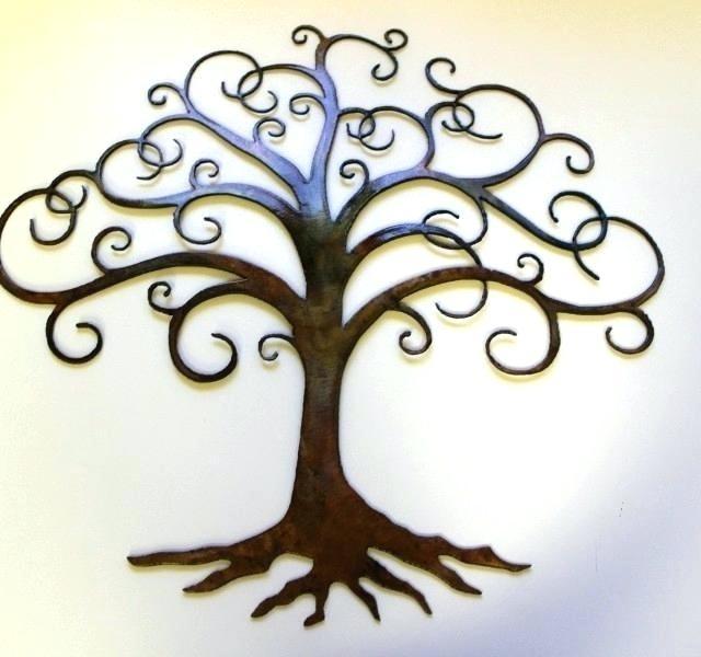 Metal Tree Wall Art Tree Metal Wall Decor Decor Tag Fresh Design Pertaining To Kohl\'s Metal Wall Art (Image 17 of 25)
