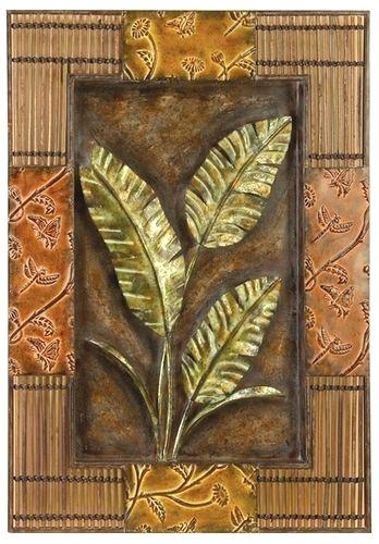 Metal Tropical Wall Art Arttropical Metal Wall Decor Within Tropical Wall Art (Image 7 of 20)