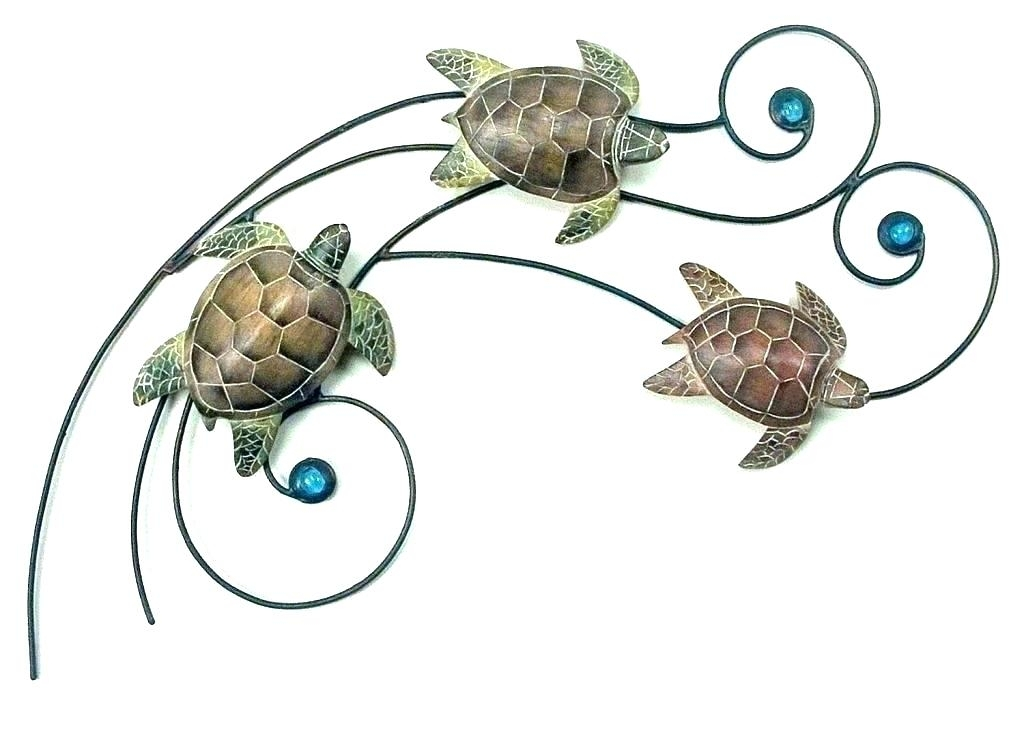 Metal Turtle Wall Art Metal Turtle Wall Art Turtle Canvas Wall Art Intended For Sea Turtle Canvas Wall Art (View 20 of 25)