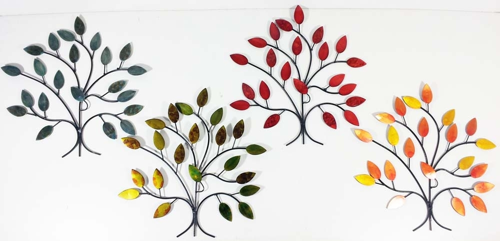 Metal Wall Art – 4 Seasons Tree Branch Set For Metal Wall Art Trees (Image 12 of 25)