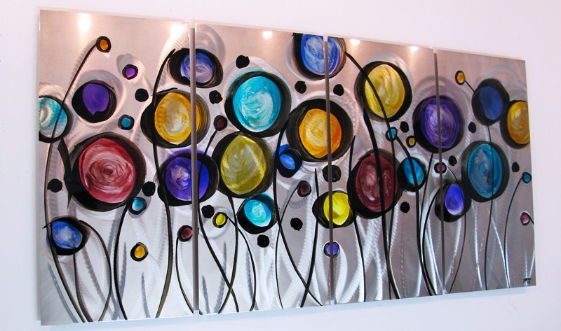 Metal Wall Art For Modern Home » Inoutinterior Pertaining To Colorful Wall Art (Image 15 of 20)