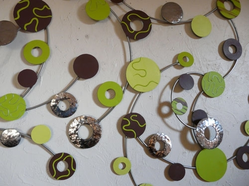 Metal Wall Art Harmony Lime Green – The Sculpture Room With Green Wall Art (View 10 of 25)