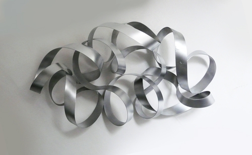Metal Wall Art Mobius – The Sculpture Room Throughout Metal Wall Art Sculptures (Image 4 of 10)