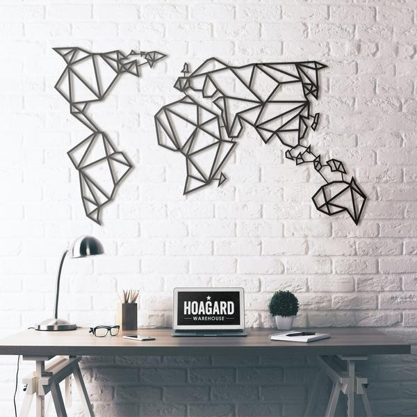 Metal Wall Art – World Map Intended For Wall Art World Map (Image 11 of 25)