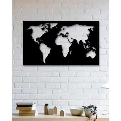 Metal Wall Art World Map – Packtoo Pertaining To Wall Art World Map (Image 12 of 25)