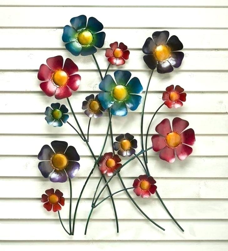 Metal Wall Flowers Metal Flower Wall Art Metal Wall Art Flowers Pertaining To Metal Flowers Wall Art (Image 11 of 20)