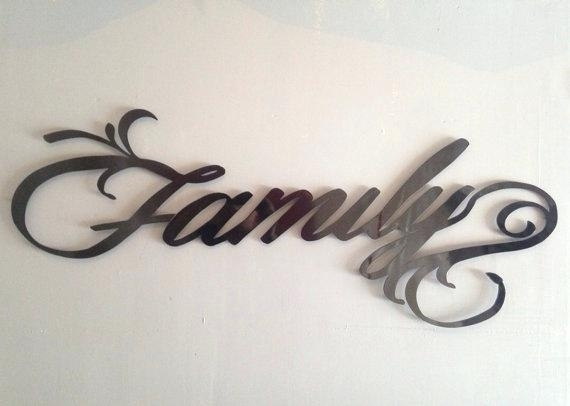 Metal Wall Signs Family Metal Wall Art Family Sign Metal Art Wall In Family Metal Wall Art (View 3 of 10)