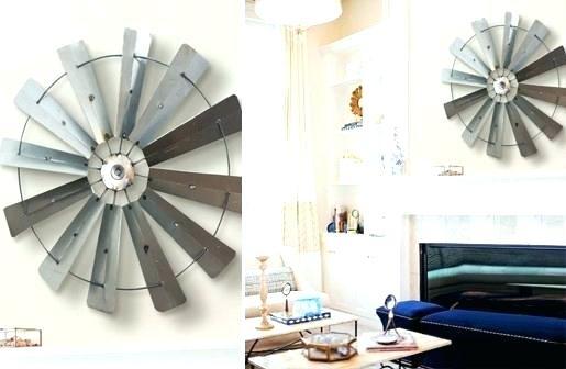 Metal Windmill Decor Windmill Blade Wall Decor Windmill Wall Decor Within Windmill Wall Art (View 16 of 20)