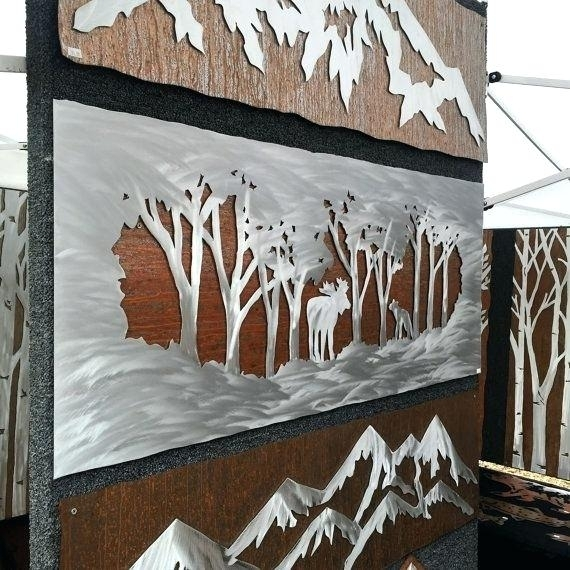 Metal Wood Wall Art Metal Wall Art Hand Crafted Handmade Moose Wall Throughout Wood And Metal Wall Art (View 19 of 25)
