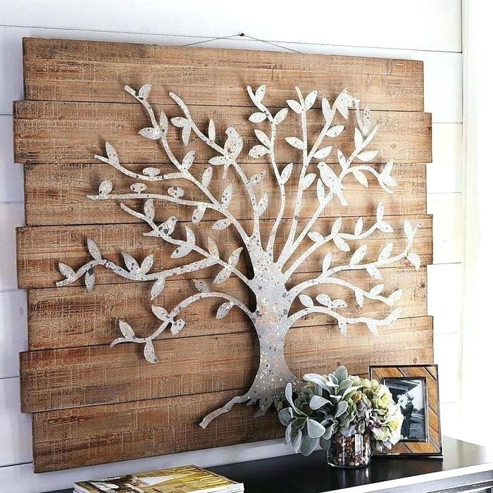 Metal Wood Wall Art Wood Wall Art Decor Wood And Metal Tree Wall Art Pertaining To Metal Tree Wall Art (View 10 of 10)