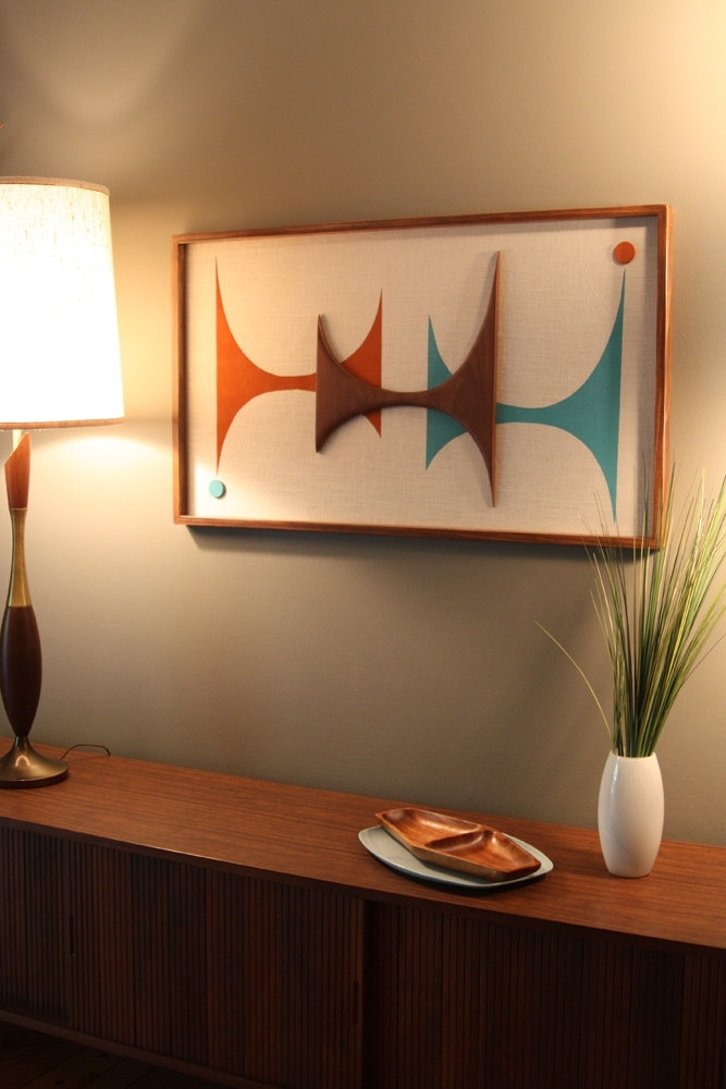 Mid Century / Danish Modern Atomic Witco Styled Wall Art, Mid Regarding Mid Century Modern Wall Art (View 4 of 20)
