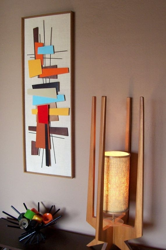 Mid Century Modern Abstract Wall Art Sculpture Painting Retro Eames For Mid Century Wall Art (View 3 of 20)