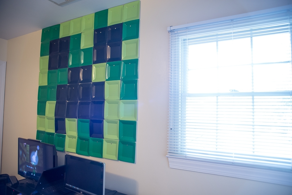 Minecraft Creeper Wall Art Diy | Sheltie Steve Within Wall Art Diy (View 23 of 25)