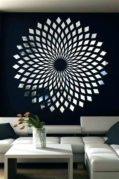 Mirror Wall Art Decor Mosaic Amazing Buy Mirrored Fretwork Square In Within Mirrored Wall Art (View 6 of 20)