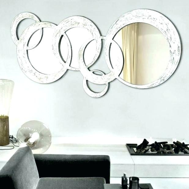 Mirror Wall Art Mirror Circles Wall Art Chrome Silver Finish Art In Circle Wall Art (View 11 of 25)