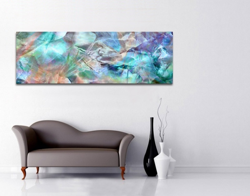 Modern Abstract Art – Interior Decor Options With Large Canvas Art – Within Oversized Teal Canvas Wall Art (View 5 of 25)