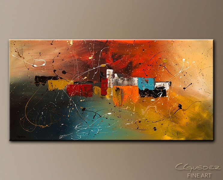 Modern Abstract Art Painting – Celebration – Contemporary Wall Art With Regard To Modern Abstract Painting Wall Art (Image 16 of 25)