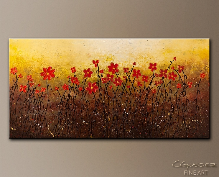 Modern Abstract Art Painting For Sale Where Happiness Grows Regarding Modern Abstract Painting Wall Art (View 14 of 25)