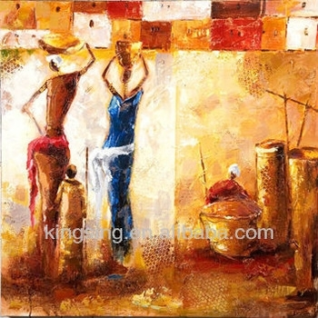 Modern African Women Oil Painting Canvas Art Wall Art – Buy African Pertaining To Modern Painting Canvas Wall Art (View 16 of 25)